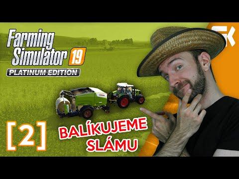 BALÍKUJEME SLÁMU! | Farming Simulator 19 Platinová edice #02