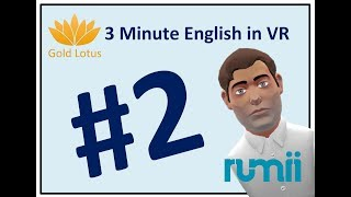 3 Minute English #2 - Learn English Vocabulary in Virtual Reality