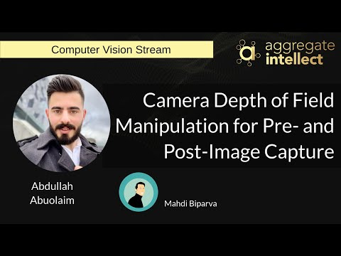 Camera Depth of Field Manipulation for Pre- and Post-Image Capture