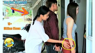 Funny Videos Try Not To Laugh Challenge - Comedy Video Funny Pranks On Friends #1 By V-Series