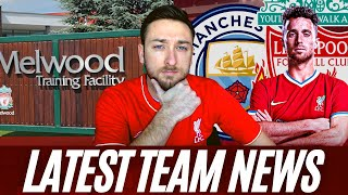 Thiago Out Against Man City, Jota Injury Update, LFC Players Say Goodbye to Melwood | LFC Team News
