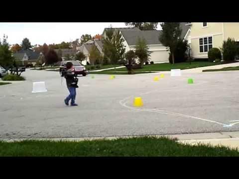 Kids Skate Park - My Practice Run...