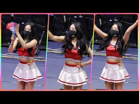 [4K] 치어리더 이이슬 직캠 (cheerleader) - 사전응원 연습 @남자배구경기/201118/Fanc…
