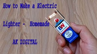 How to Make a Electric Lighter   Homemade