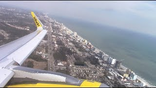 Spirit Airlines A321 Takeoff from Myrtle Beach [HD]