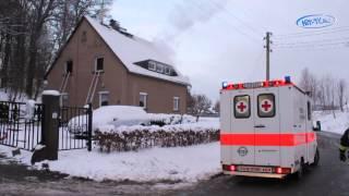 preview picture of video 'Frau starb bei Wohnhausbrand in Neusalza-Spremberg (Sachsen) 12.01.2013'