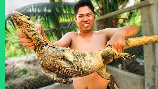 Eating a DINOSAUR in Asia!!! RARE Mekong Delta Food you will only find here!