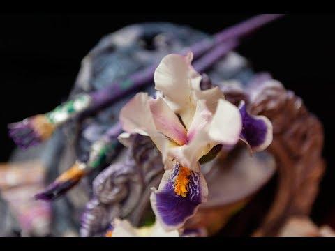 Мастер-класс торта художнику с сахарными цветами