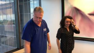 Brazilian Woman Gets First WOW Adjustment From Houston Chiropractor Dr Gregory Johnson