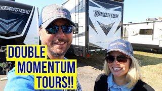 Grand Design Momentum 376TH and Momentum 350G | Toy Hauler RV Tours! | Full Time RV!