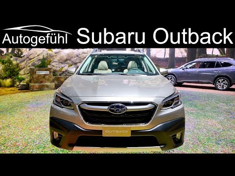 all-new Subaru Outback REVIEW Exterior Interior Premiere 2020 - Autogefühl