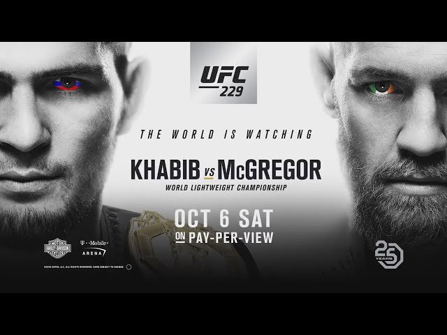 Ufc 229 Conor Mcgregor Vs Khabib Nurmagomedov The World Is Watching