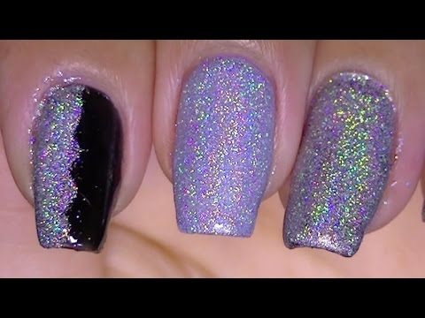 Holographic Pigment On Nails Step By Step Tutorial
