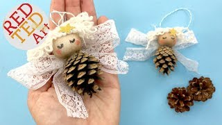Pine Cone Angel Ornaments DIY - Nature Christmas Decorations