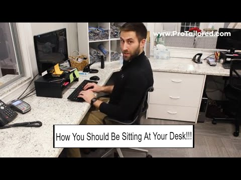 How Your Should be Sitting at Your Desk for Improving Neck and Back Pain!