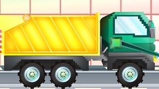 Xe đổ rác   Pipo và xe cứu hộ/ hoạt hình dành cho thiếu nhi giống như Minecraft