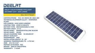 Solar Street Light - Motion Sensor - Intelligent - 4000 Lumens #D1776387