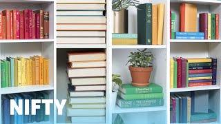 9 Stylish Ways To Organize Your Bookshelf