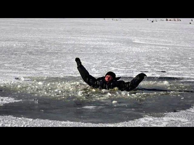 17 минут в ледяной воде