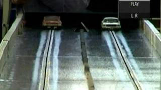1/24 slot car drag racing with slow motion #2