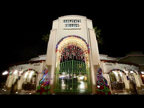 Universal Studios Hollywood - Christmas In The Wizarding World Of Harry Potter + Castle & Snow Show