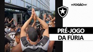 Botafogo x Náutico | Torcida alvinegra esquenta pré-jogo no hotel do Fogão (18/9/2021) 🎉🚍🔥