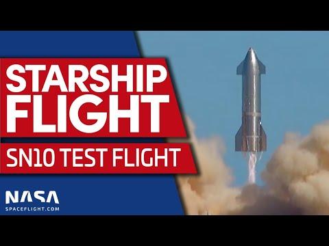Starship SN10 le test a lieu aujourd'hui