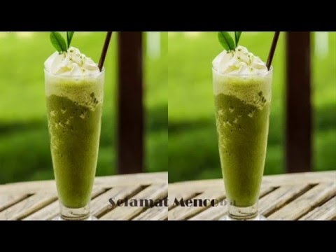 Video Resep Minuman  Green Tea Frappuccino