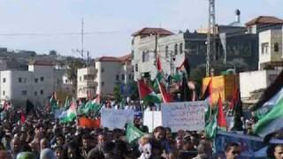 preview picture of video '100 الف متظاهر في سخنين للمطالبة بوقف العدوان على عزة'