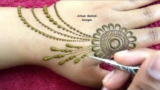 Download New Simple and Stylish Jewellry Mehndi Design
