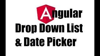 Angular 8 #22; Dropdown list and Datepicker in Angular form fields