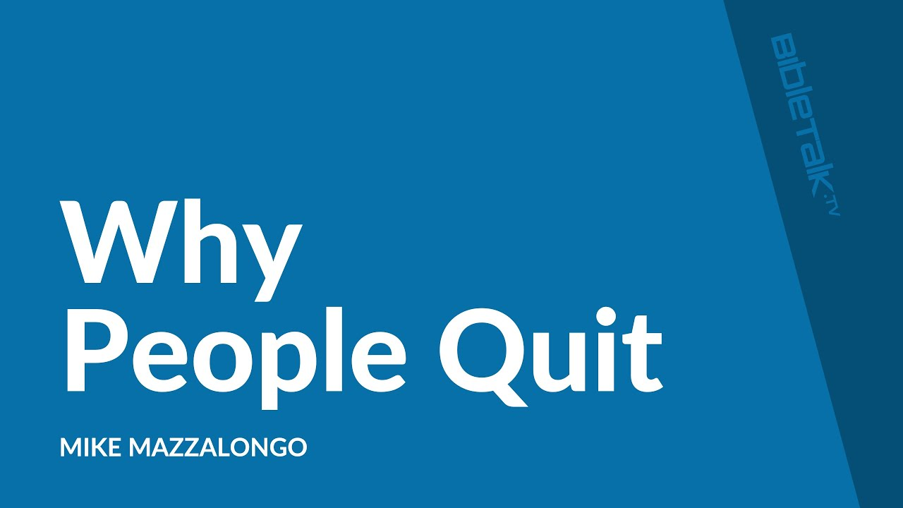 Why People Quit