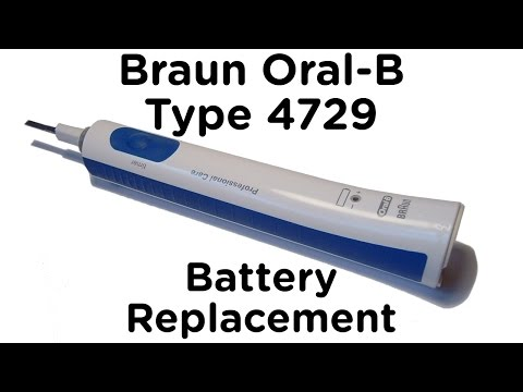 Battery Replacement Guide for Braun Oral-B Type 4729 Toothbrush - Professional Care