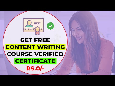 Learn Content Writing (Full Course) & Get Free Verified Certificate ✅