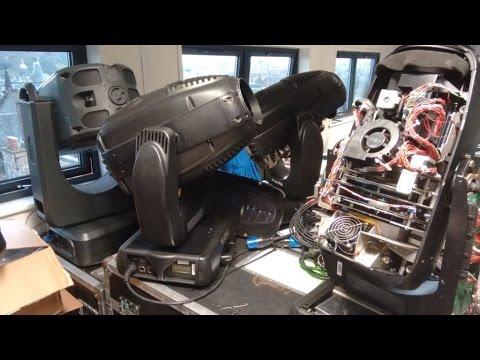 Inside a VL3000 moving head light.   TCF