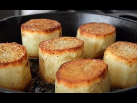 Video Fondant Potatoes - Crusty Potatoes Roasted with Butter and Stock