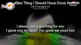 """John Karagiannis - """"One Thing I Should Have Done"""" (Cyprus)"""
