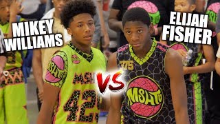 Mikey Williams & Elijah Fisher ARE SOME DAWGS!! | Top 2 Players in the Country FACE OFF