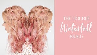 Pretty Hairstyles - The Double Waterfall Braid Tutorial