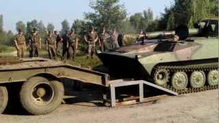 Яворів (погрузка танка)