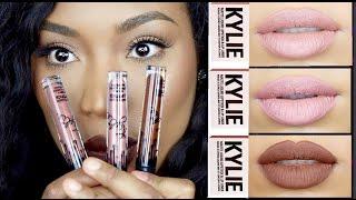 Kylie Jenner LipKit  Swatches  Irisbeilin