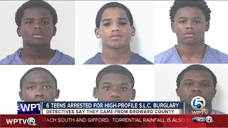6 teens arrested for high-profile St. Lucie County burglary