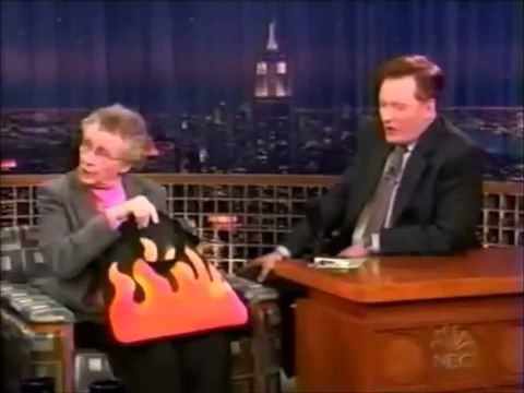 One of Conan O'Brien's best moments was when he interviewed sex educator, Sue Johanson.
