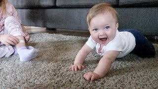She's About To Start Crawling!! (7 months old)