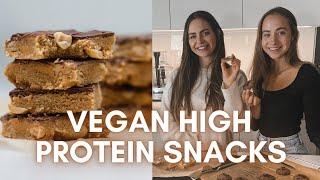Gesunde, Vegane Protein Cookies & Peanutbutter Bites - Bake & Talk mit Rahel   Lini's Bites