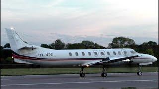 North Flying Fairchild Metro 23 OY-NPG Departing Cambridge Airport