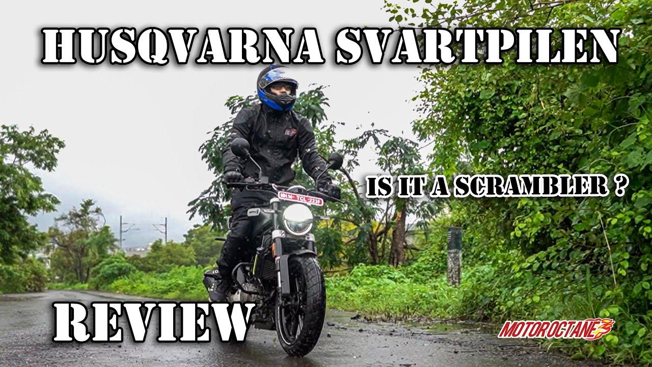 Motoroctane Youtube Video - Husqvarna Svartpilen 250 Review - Is it a scrambler? Hindi | MotorOctane