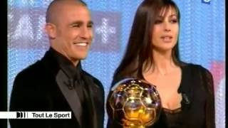 "Fabio Cannavaro Monica Bellucci ""Golden Ball"" ceremony 2006"
