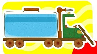 Car Toons: a Water Truck. Vehicles for Kids