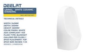 Urinal - White Ceramic - Standing